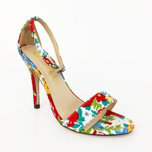 Chase & Chloe Floral Ankle Strap Heels Size 7